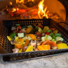wood fire veggies